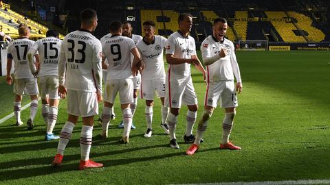 Eintracht Frankfurt Borussia Dortmund Jubel