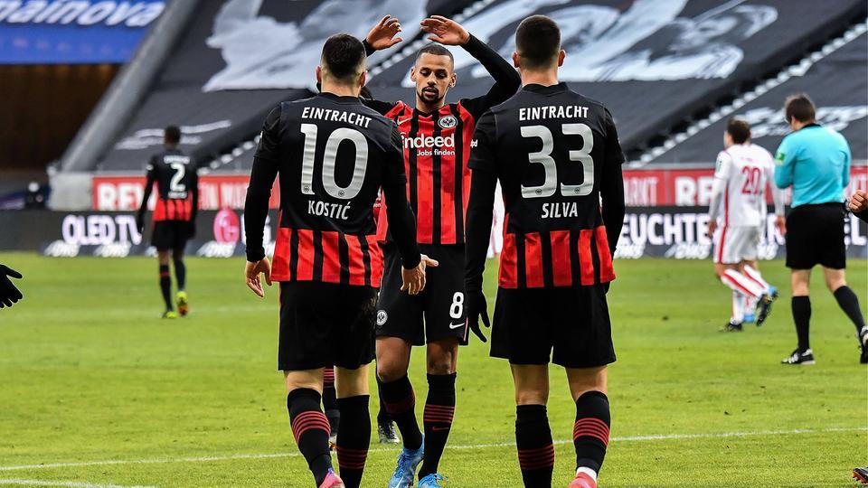 Jubel von Eintracht Frankfurt gegen Köln