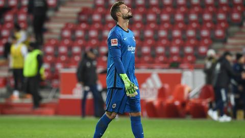 Eintracht-Torhüter Kevin Trapp gab in Berlin ebenfalls keine gute Figur ab.