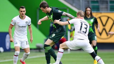 Eintracht Frankfurt gegen den VfL Wolfsburg