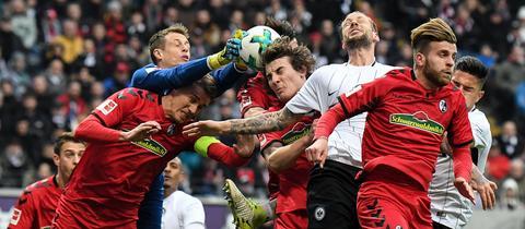 Eintracht gegen Freiburg Spielszene