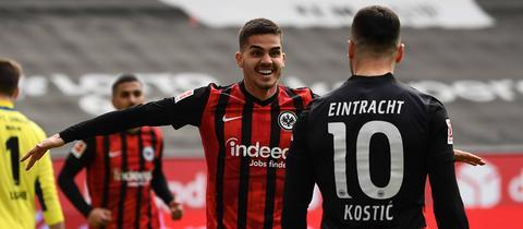 Jubel Eintracht Frankfurt André Silva Union Berlin