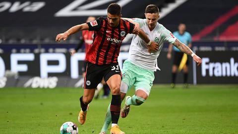 André Silva von Eintracht Frankfurt im Hinspiel gegen Werder Bremen