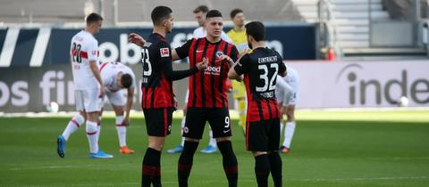André Silva Amin Younes Luka Jovic Eintracht Frankfurt