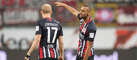 Sebastian Rode und Djibril Sow haben gegen die TSG Hoffenheim stark gespielt.