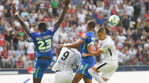 Szene aus Spiel Eintracht gegen Wolfsburg