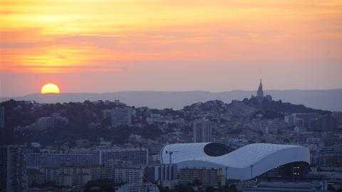 Foto des Stadion Velodrome in Marseille