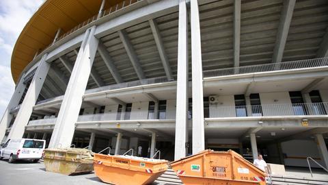 Bauarbeiten am Frankfurter Stadion