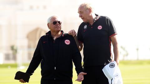 Wolfgang Steubing und Peter Fischer im Trainingslager in Abu Dhabi