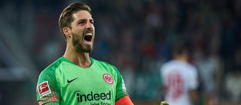 Eintracht-Torwart Kevin Trapp jubelt