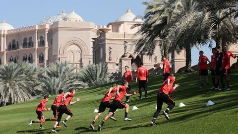 Die Eintracht im Trainingslager in Abnu Dhabi