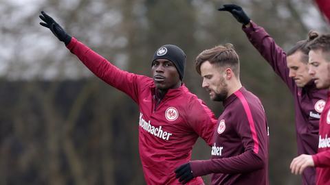 Ordonez und Seferovic im Training der Eintracht
