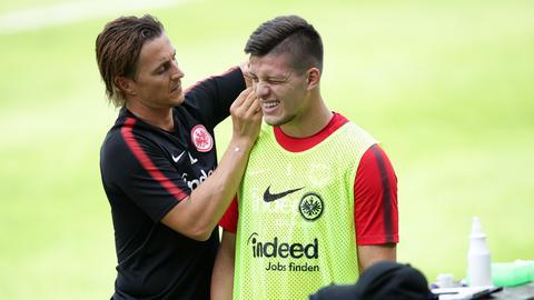 Luka Jovic im Training der Eintracht