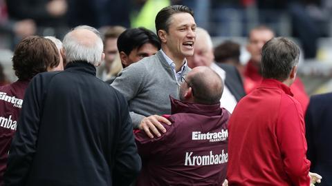 Eintracht-Coach Niko Kovac wird gefeiert