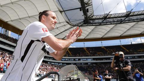 Alex Meier bei der Saisoneröffnung der Eintracht