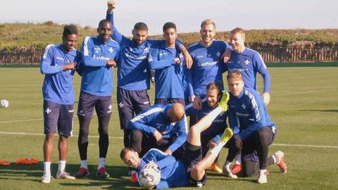 Mannschaft SV Darmstadt 98 im Trainingslager