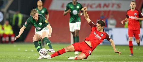Voller Einsatz: Lucas Torró beim Spiel in Wolfsburg