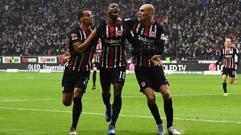 Almamy Touré bejubelt seinen Treffer gegen Leipzig