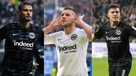 Collage: Haller, Rebic, Jovic