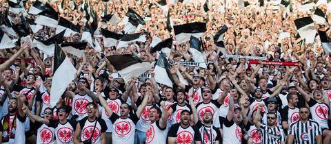 Eintracht-Fans beim Pokalfinale