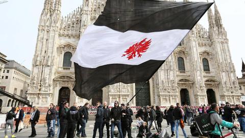 Eintracht-Fans in Mailand.