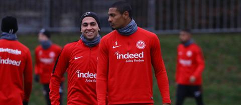 Omar Mascarell und Sebastien Haller im Training.