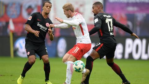 Die Eintracht muss im Heimspiel gegen Leipzig vor allem auf Timo Werner aufpassen.