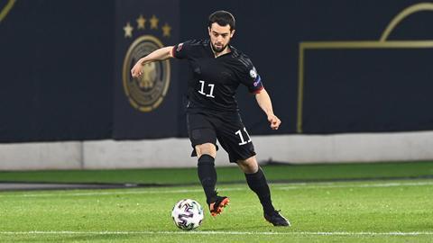 Amin Younes im Spiel der Nationalmannschaft gegen Island