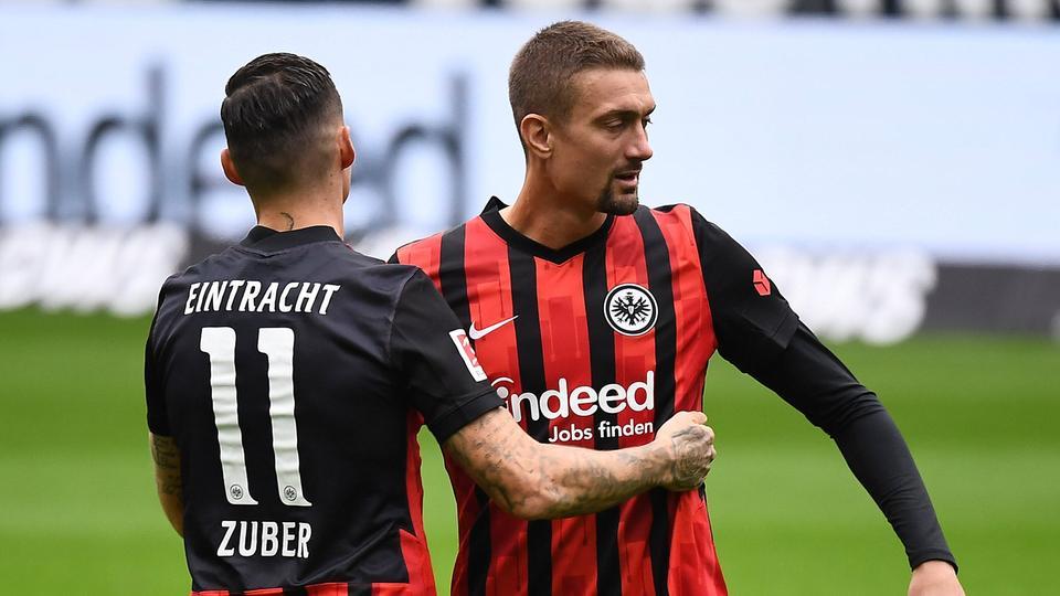 Steven Zuber Stefan Ilsanker Eintracht Frankfurt