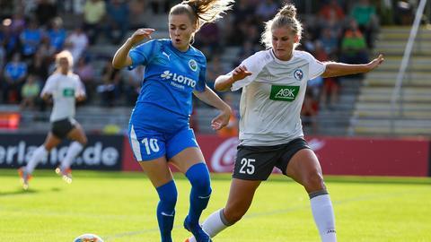 Laura Feiersinger vom FFC Frankfurt im Spiel gegen Potsdam