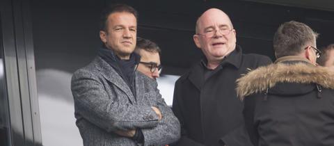 Fredi Bobic und Siegfried Dietrich gemeinsam im Stadion