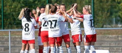 Jubel bei den Spielerinnen des FFC Frankfurt