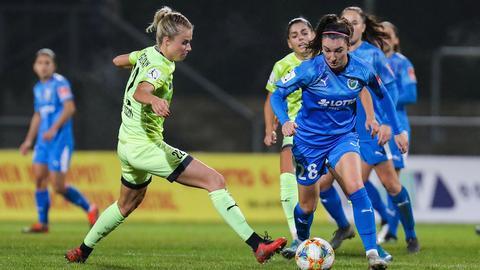 Barbara Dunst vom FFC Frankfurt im Spiel gegen Essen