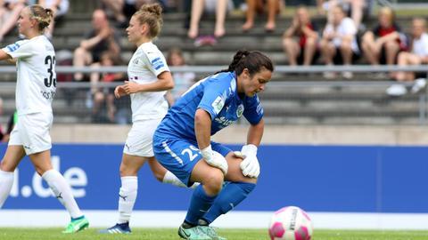 FFC-Torhüterin Bryane Heaberlin war beim zwischenzeitlichen 1:1-Ausgleich machtlos.