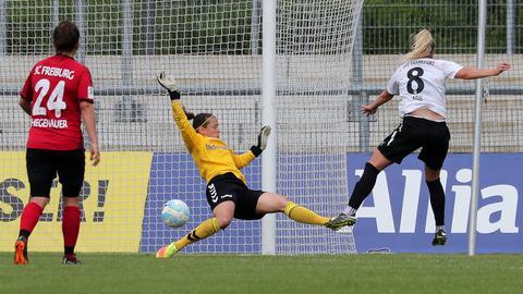 Agg trifft für den FFC gegen Freiburg.