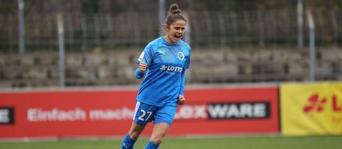 Laura Feiersinger jubelt