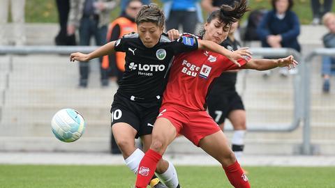 Yokoyama im Zweikampf mit Sands Santos