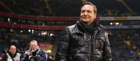 Horst Heldt im Frankfurter Stadion