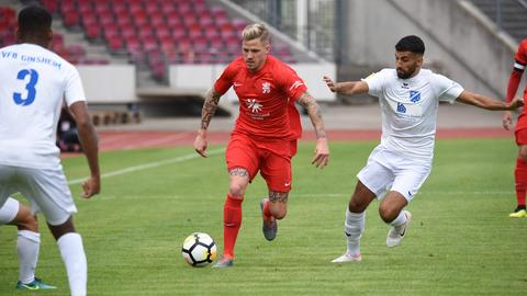 Eine Spielszene aus der Saison 2018/19 von der Partie Kassel gegen Ginsheim