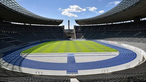 Das leere Berliner Olympiastadion