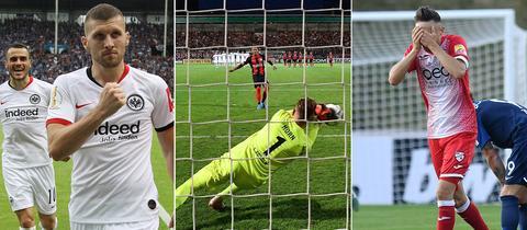 Collage mit hessischen Szenen aus dem DFB-Pokal