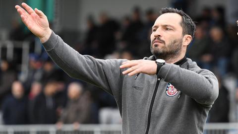 Nur einen Punkt: FSV-Trainer Thomas Brendel kann nicht zufrieden sein.