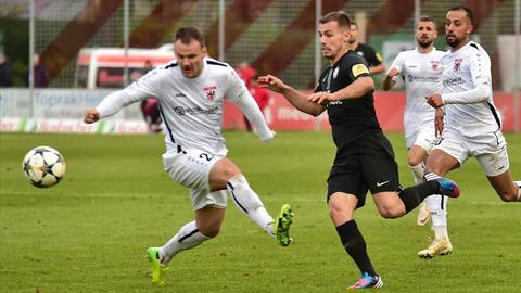 Vaclav Koutny vom FC Gießen im Spiel gegen Elversberg