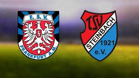 Die Logos von FSV Frankfurt und TSV Steinbach Haiger