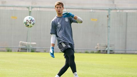 Eike Bansen beim Training der deutschen U21-Nationalmannschaft.