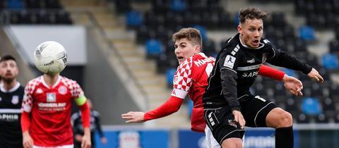Straub vom FSV Frankfurt im Spiel gegen Mainz 05