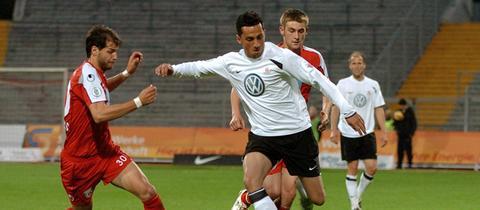 Harez Habib im Einsatz für den KSV Hessen Kassel