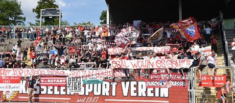 Fans des KSV Hessen Kassel