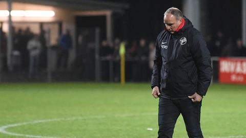 Oliver Reck ist enttäuscht nach der Niederlage in Pirmasens