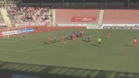 Spielszene Hessen Kassel gegen Barockstadt Lehnerz